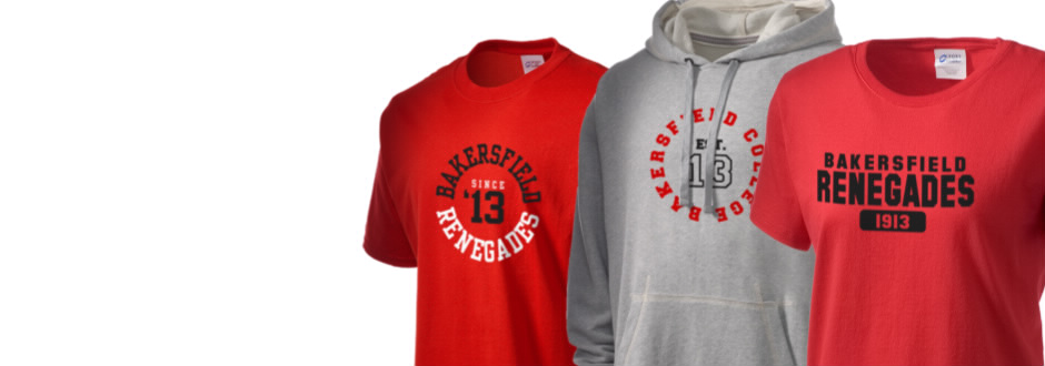 Bakersfield college renegades apparel store prep sportswear T shirt outlet bakersfield ca