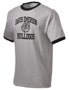 Davis Emerson Middle School Bulldogs Champion Men's Ringer T-Shirt
