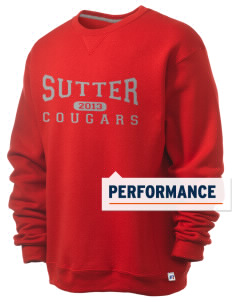 Sutter Middle School Cougars  Russell Men's Dri-Power Crewneck Sweatshirt