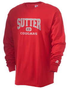 Sutter Middle School Cougars  Russell Men's Long Sleeve T-Shirt