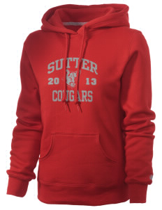 Sutter Middle School Cougars Russell Women's Pro Cotton Fleece Hooded Sweatshirt