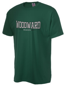 Woodward Middle School Wildcat  Russell Men's NuBlend T-Shirt