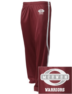 McEwen Middle School Warriors Embroidered Holloway Men's Tricotex Warm Up Pants