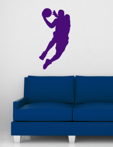 "Miami High school Warriors Wall Silhouette Decal 20"" x 32"""