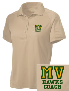 Mountain Valley Academy Hawks Embroidered Women's Polytech Mesh Insert Polo
