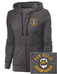San Elijo Middle School Golden Eagles Embroidered Women's Marled Full-Zip Hooded Sweatshirt