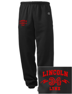 Lincoln High School Lynx Embroidered Champion Men's Sweatpants
