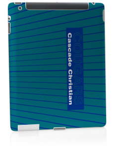 Cascade Christian School Cougars Apple iPad 2 Skin