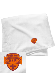 Queen Anne High School Grizzlies Embroidered Beach Towel
