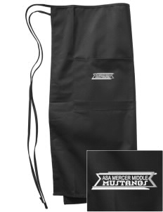 Asa Mercer Middle High Mustangs Embroidered Full Bistro Bib Apron