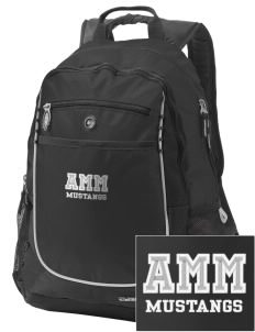 Asa Mercer Middle High Mustangs Embroidered OGIO Carbon Backpack