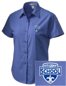 South Egremont School Embroidered Women's Short Sleeve Easy Care, Soil Resistant Shirt