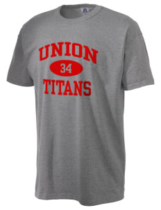 Union High School Titans  Russell Men's NuBlend T-Shirt