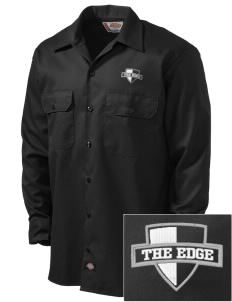 The Edge  Embroidered Dickies Men's Long-Sleeve Workshirt