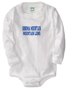 Sonoma Mountain Elementary Mountain Lions  Baby Long Sleeve 1-Piece with Shoulder Snaps