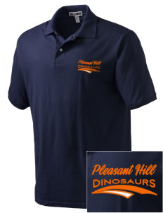 Pleasant Hill Elementary Dinosaurs Embroidered Men's Jersey Polo