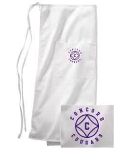 Concord Elementary School Cougars Embroidered Full Bistro Bib Apron
