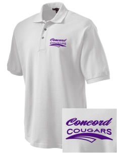 Concord Elementary School Cougars Embroidered Tall Men's Pique Polo
