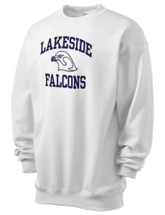 Lakeside Christian Academy FALCONS Men's 7.8 oz Lightweight Crewneck Sweatshirt