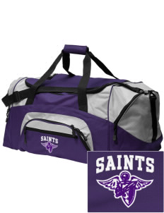 Charles B Sinclair Middle School Saints Embroidered Colorblock Duffel Bag