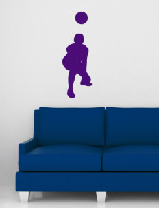 "Charles B Sinclair Middle School Saints Wall Silhouette Decal 20"" x 32"""
