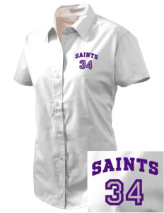 Charles B Sinclair Middle School Saints Embroidered Women's Easy Care Short Sleeve Shirt