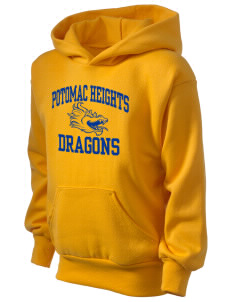 Potomac Heights Elementary School Dragons Kid's Hooded Sweatshirt
