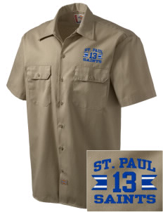 Saint Paul School Saints Embroidered Dickies Men's Short-Sleeve Workshirt