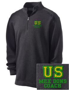 Union Street Elementary School Mex Dons Embroidered Nike Men's Golf Heather Cover Up
