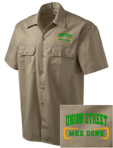 Union Street Elementary School Mex Dons Embroidered Dickies Men's Short-Sleeve Workshirt