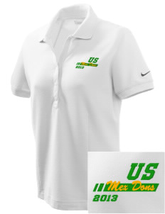 Union Street Elementary School Mex Dons Embroidered Nike Women's Pique Golf Polo