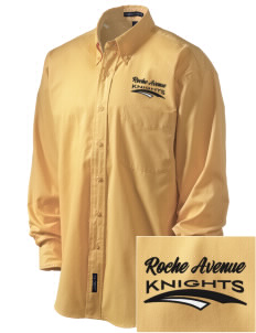 Roche Avenue School Knights Embroidered Men's Easy-Care Shirt