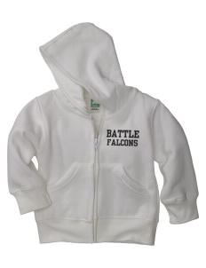 Battle Elementary School Falcons Baby Full Zip Hoodie
