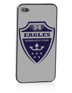 Maywood Baptist Pilgrim School Eagles Apple iPhone 4/4S Skin