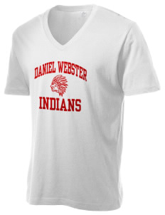 Daniel Webster High School Indians Alternative Men's 3.7 oz Basic V-Neck T-Shirt