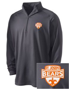 Saint Joseph Junior High School Bears Embroidered Men's Stretched Half Zip Pullover