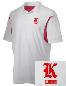 Kerman High School Lions Embroidered Men's Back Blocked Micro Pique Polo