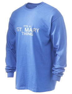 Saint Mary Elementary School Dolphins 6.1 oz Ultra Cotton Long-Sleeve T-Shirt