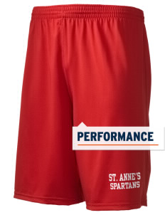 "Saint Anne's School Spartans Holloway Men's Performance Shorts, 9"" Inseam"