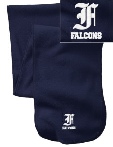 Snowden Elementary School Falcons  Embroidered Extra Long Fleece Scarf