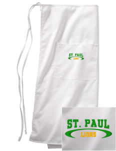 Saint Paul School Lions Embroidered Full Bistro Bib Apron