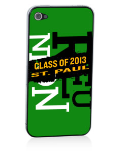 Saint Paul School Lions Apple iPhone 4/4S Skin