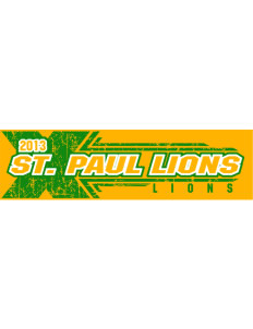 "Saint Paul School Lions Bumper Sticker 11"" x 3"""