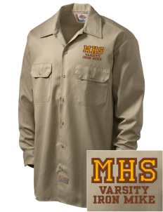 McCorristin Catholic High School Iron Mike Embroidered Dickies Men's Long-Sleeve Workshirt