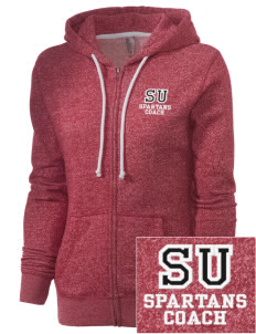Springville Union School Spartans Embroidered Women's Marled Full-Zip Hooded Sweatshirt