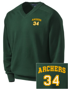 Sherwood Elementary School Archers Embroidered Men's V-Neck Sweater