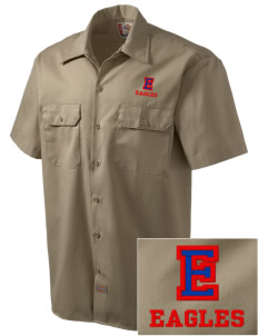Eaton Elementary School Eagles Embroidered Dickies Men's Short-Sleeve Workshirt