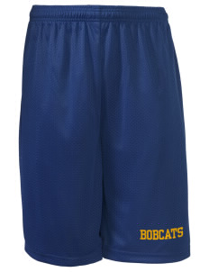 "Bryant Middle School Bobcats Long Mesh Shorts, 9"" Inseam"
