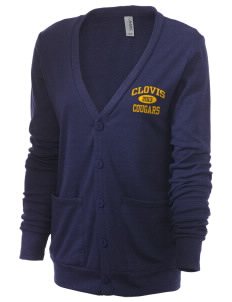 Clovis High School Cougars Unisex 5.6 oz Triblend Cardigan