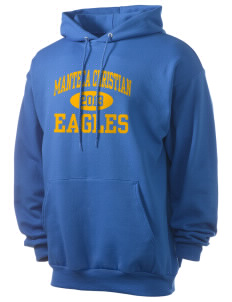 Manteca Christian School Eagles Men's 7.8 oz Lightweight Hooded Sweatshirt